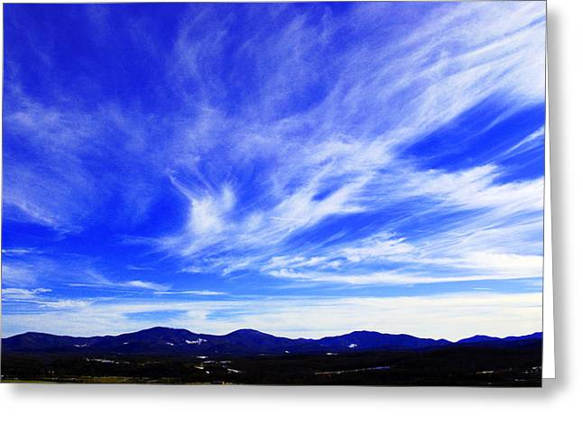 Afton Sky And Mountains I Greeting Card by Richard Singleton