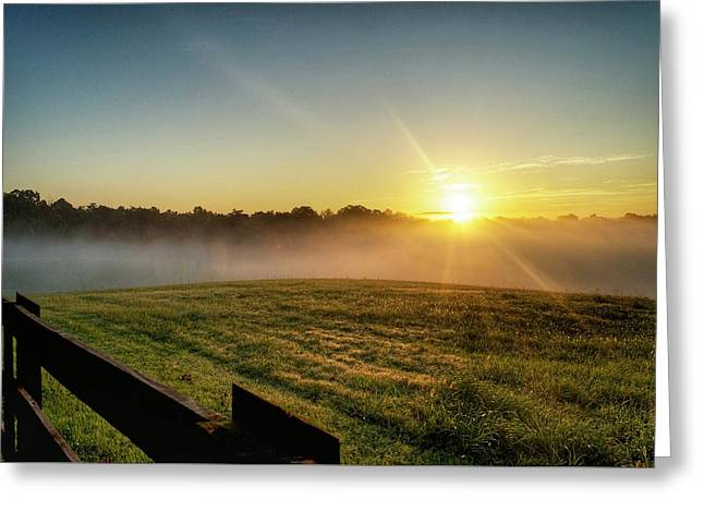 Afton Va Sunrise Greeting Card
