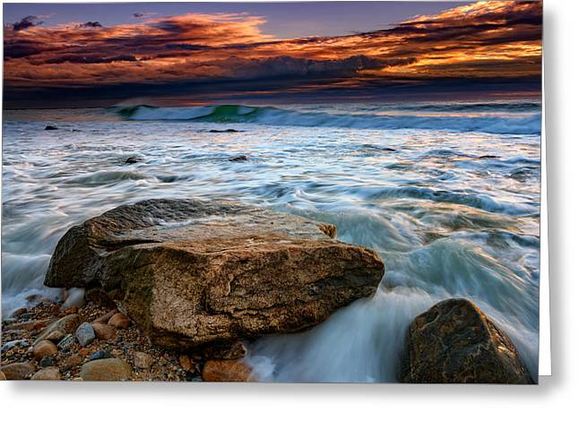 Against The Tide At Montauk Point Greeting Card