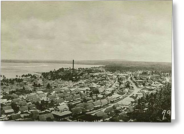 Greeting Card featuring the photograph Agana Capital Of Guam Panorama by eGuam Panoramic Photo