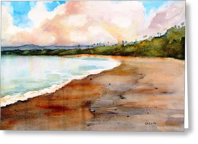 Aganoa Beach Savai'i Greeting Card