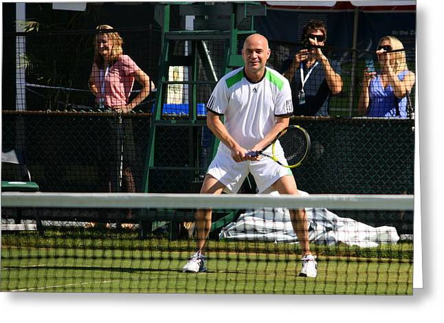 Agassi Warmup Greeting Card by Anne Babineau