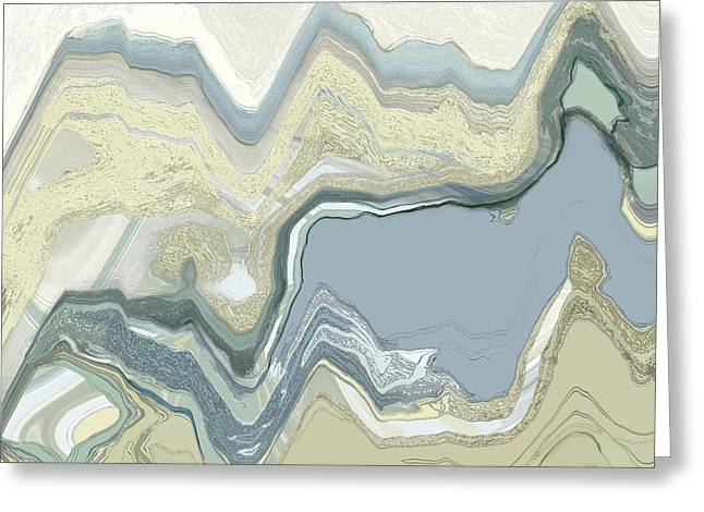 Greeting Card featuring the digital art Agate by Gina Harrison