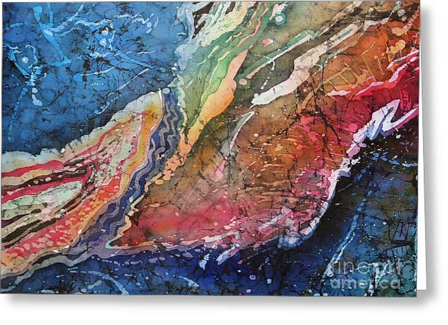 Stones Tapestries - Textiles Greeting Cards - Agate Inspiration - 21A Greeting Card by Sue Duda