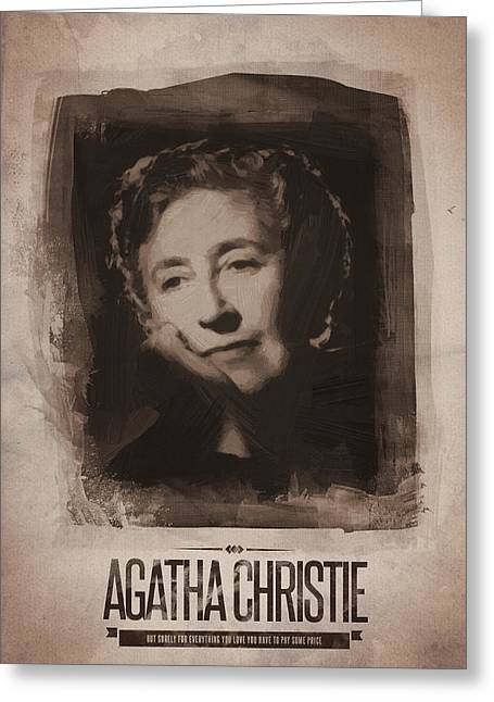 Agatha Christie 01 Greeting Card