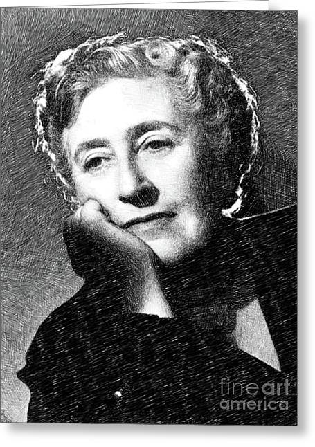 Agatha Christie, Literary Legend By Js Greeting Card