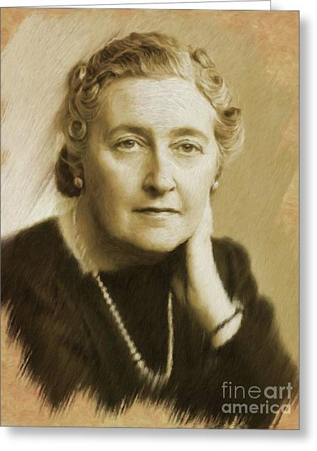 Agatha Christie Greeting Card
