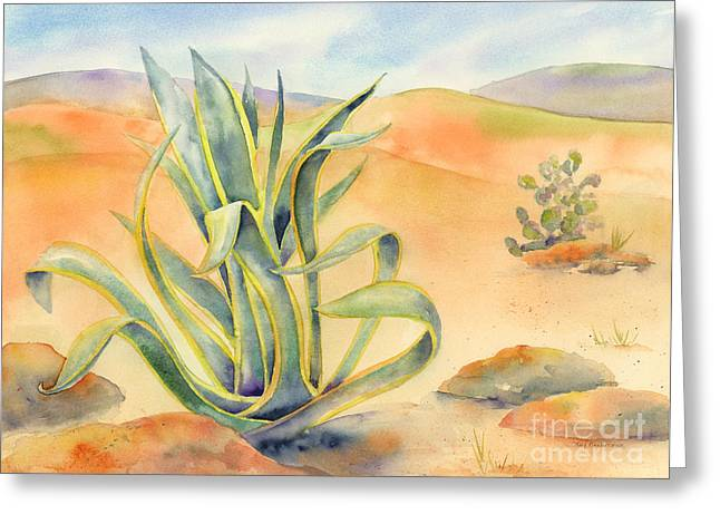 Agave In Borrego Greeting Card by Amy Kirkpatrick