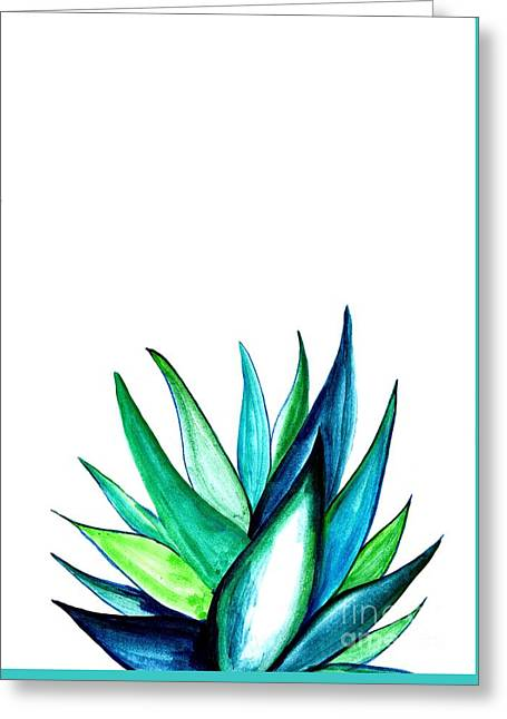 Agave Greeting Card by Sweeping Girl
