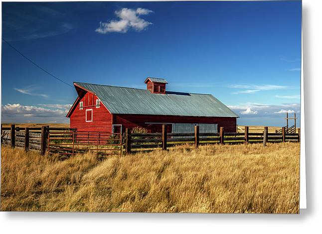 Agawam Barn Greeting Card by Todd Klassy