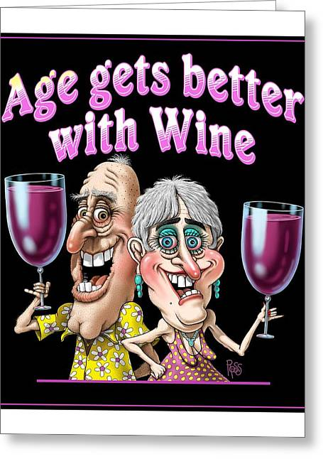 Age Gets Better Couple Greeting Card