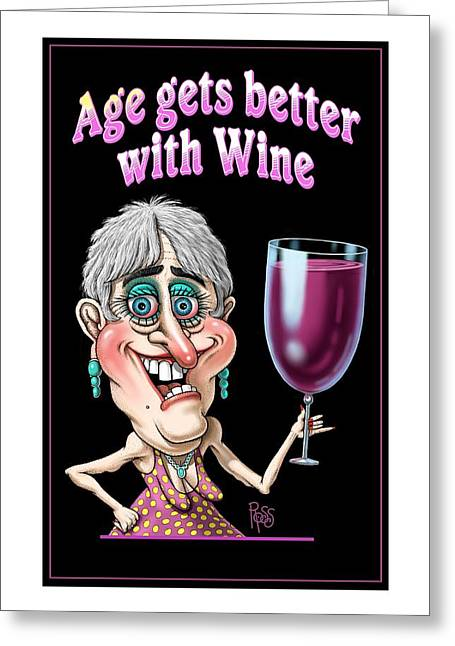 Age Gets Better Woman Greeting Card