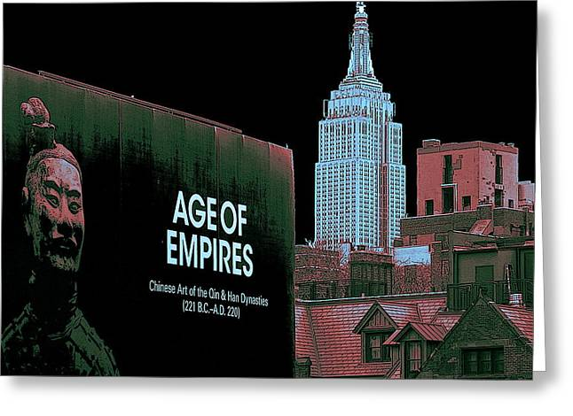 Age Of Empires - New York Greeting Card