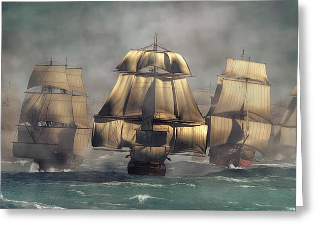 Age Of Sail Greeting Card by Daniel Eskridge