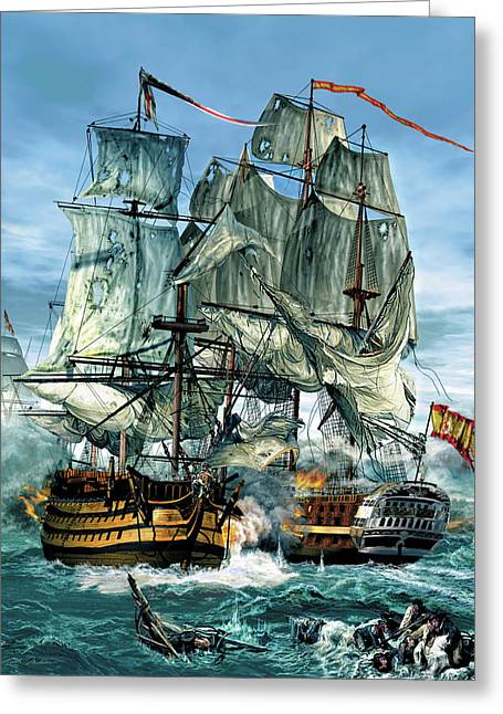 Age Of Sails Greeting Card