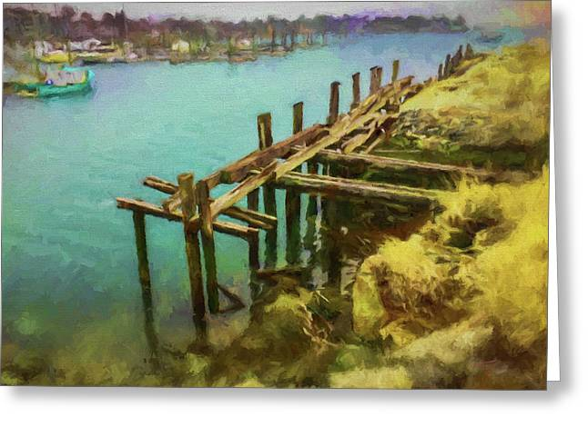 Aged Docks From Winthrop Greeting Card