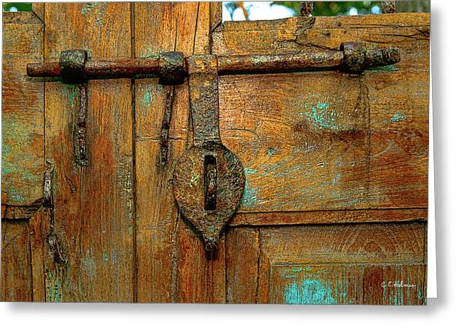 Aged Latch Greeting Card by Christopher Holmes