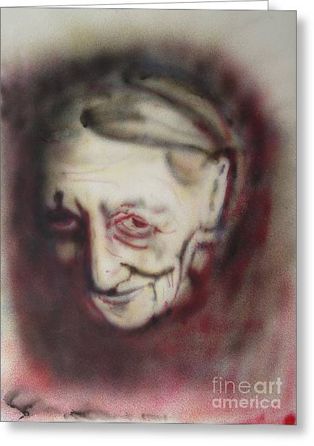 Aged Smile Greeting Card by Ron Bissett