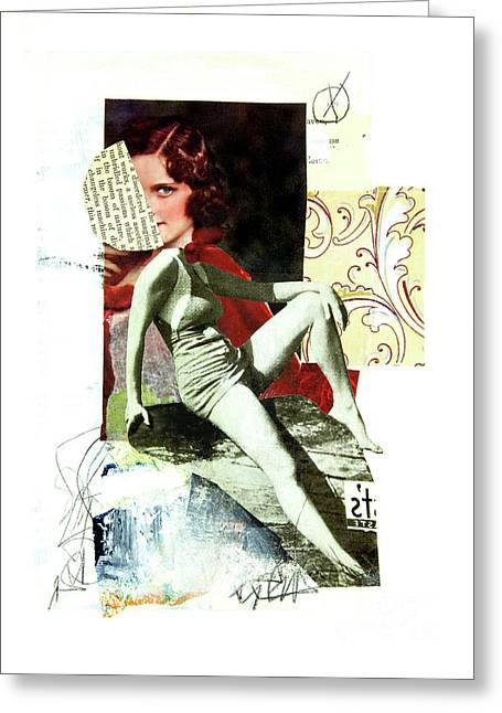 Greeting Card featuring the mixed media Ageless by Elena Nosyreva