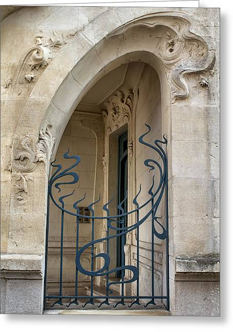 Agen Art Nouveau Gate Greeting Card