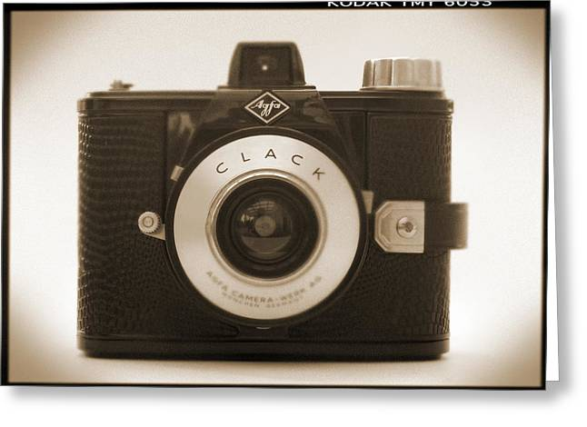 Fix Greeting Cards - Agfa Clack Camera Greeting Card by Mike McGlothlen