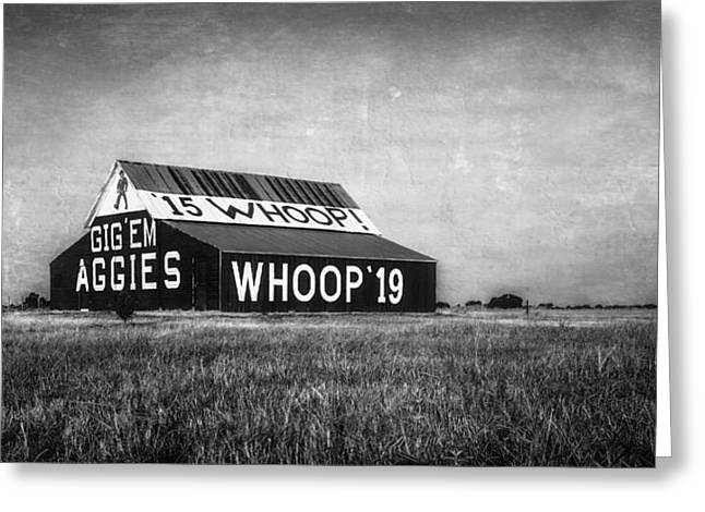 Aggie Barn 2015 Bw Greeting Card