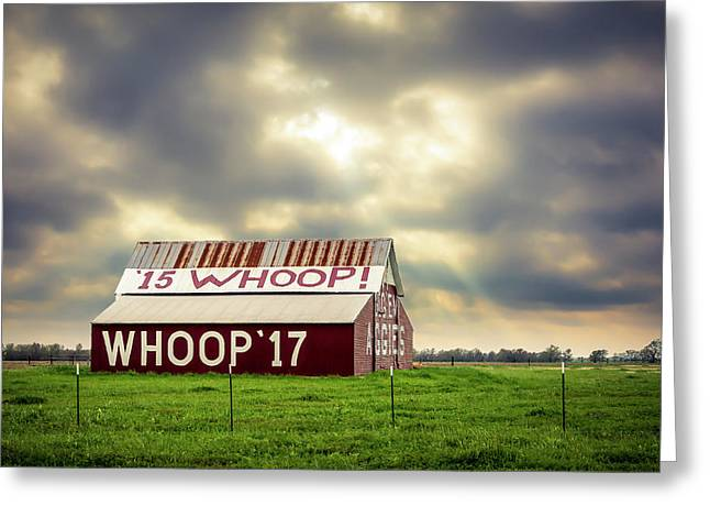 Aggie Barn Greeting Card by David Morefield