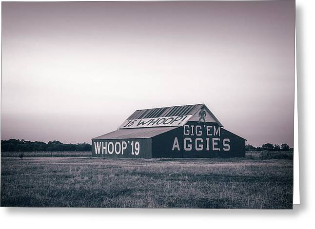 Aggie Barn Sunrise 2015 Platinum Greeting Card