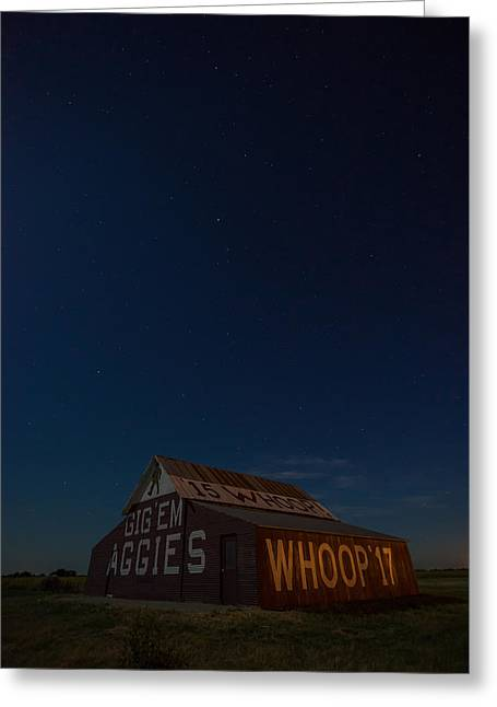 Aggie Stars Greeting Card by Jonathan Davison