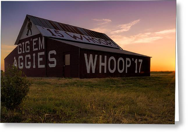 Aggie Sunset Greeting Card by Jonathan Davison