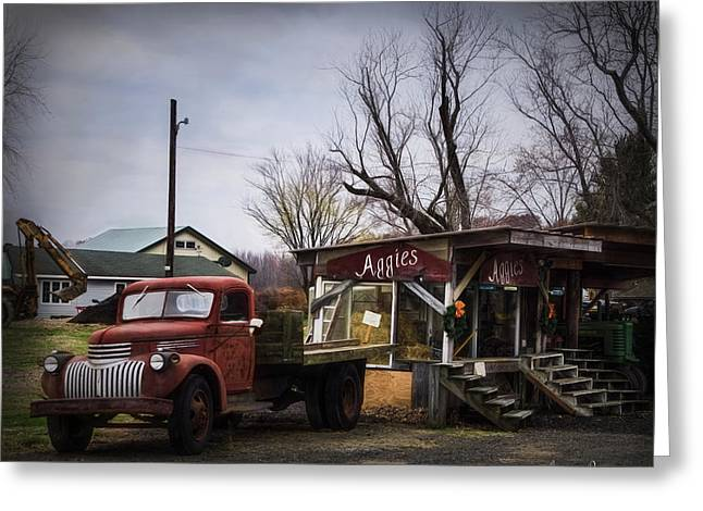 Aggie's Farm Stand 2 Greeting Card by Louise Reeves