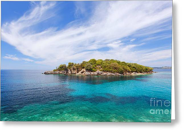 Agia Paraskevi Beach, Sivota Greece Greeting Card by Slavica Stajic