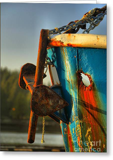 Aging Anchor Greeting Card