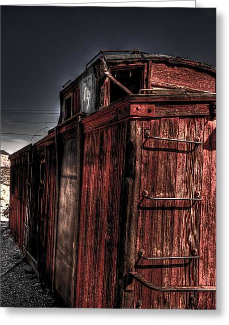 Aging Red Caboose Greeting Card by Patrick  Flynn