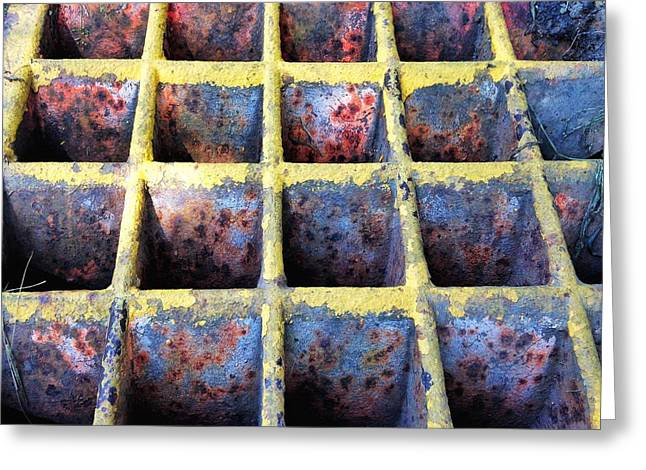 Greeting Card featuring the photograph Aging Steel by Olivier Calas