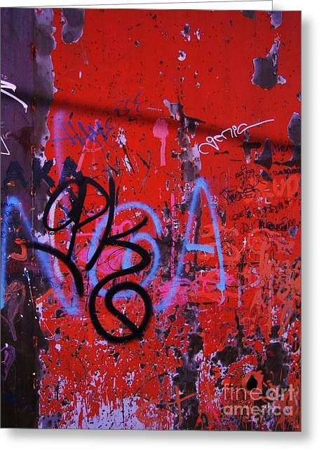 Aging Wall Two Greeting Card by Reb Frost