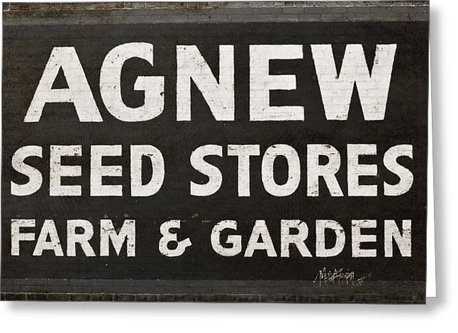 Agnew Greeting Cards - Agnew Seeds Roanoke Virginia Greeting Card by Teresa Mucha