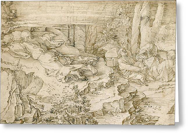 Agony In The Garden Greeting Card by Albrecht Durer