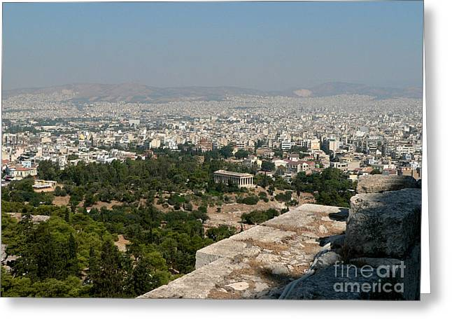 Agora And Athens Beyond Greeting Card