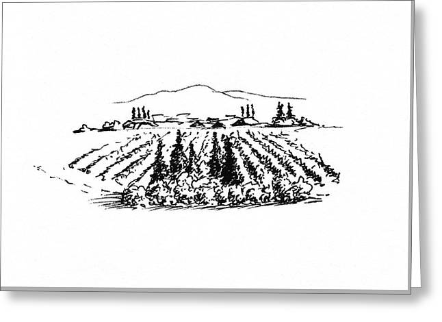 Agricultural Landscape Greeting Card