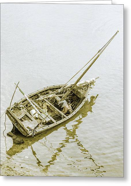 Aground Greeting Card by Patrick Kain
