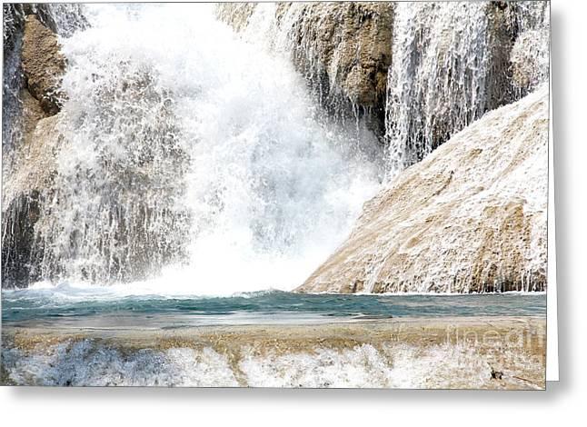 Agua Azul Waterfall Chiapas Mexico Greeting Card