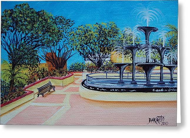 Aguadilla Plaza 2009 Greeting Card