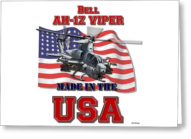 Ah-1z Viper Made In The Usa Greeting Card