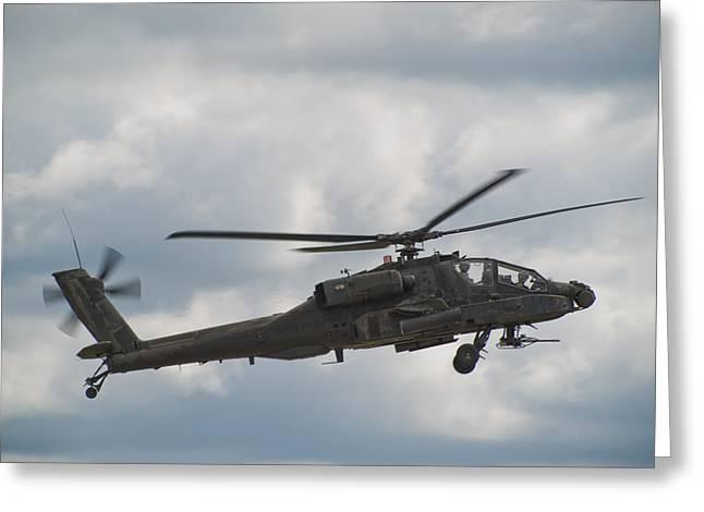 Ah-64 Apache Greeting Card by Sebastian Musial
