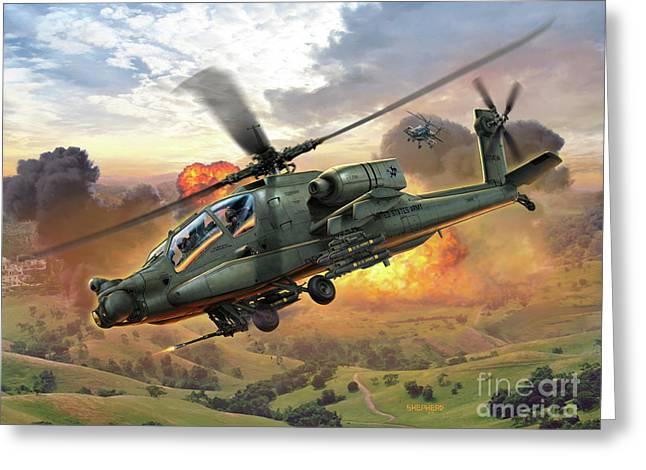 Ah-64 Apache Greeting Card