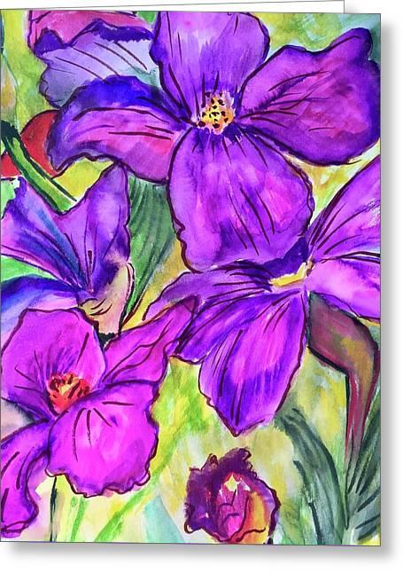 Ah, Iris Greeting Card