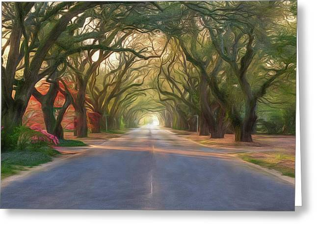 Aiken South Boundary Avenue Greeting Card