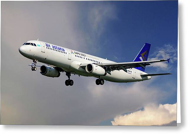 Air Astana Airbus A321 Greeting Card