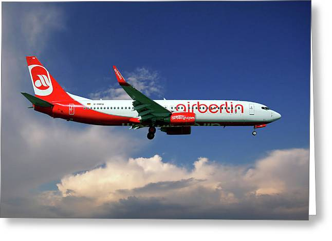 Air Berlin Boeing 737-800 Greeting Card
